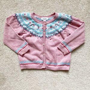 Angel Dear   Pink knit cardigan sweater